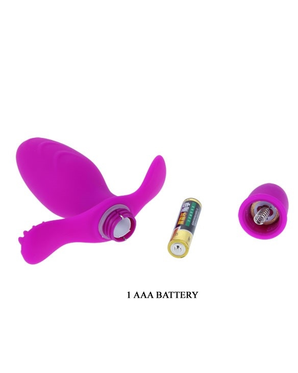 Pretty Love Fitch vibrerende anal plug batterier