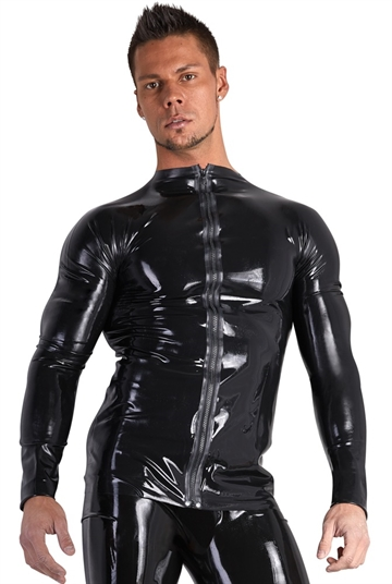 LateX Langærmet herre shirt