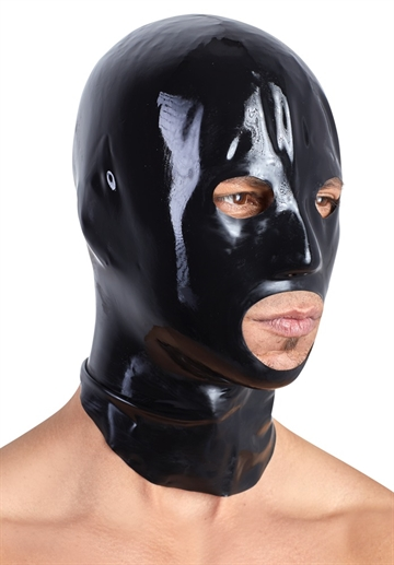 LateX Sort unisex maske