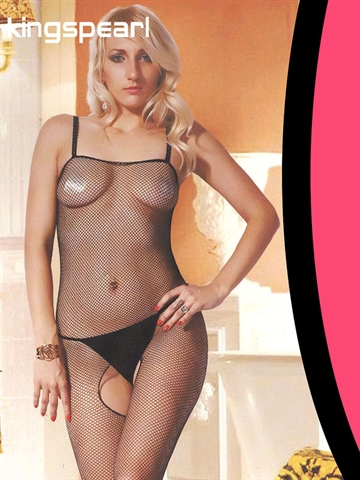 Kingspearl Sort klassisk net bodystocking