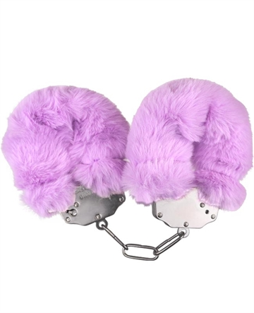Luxery Fluffy Cuffs Lavendel plys