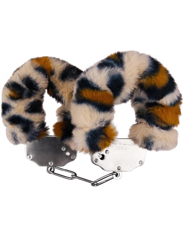 Luxery Fluffy Cuffs Leopard plys
