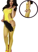 Yellow bold cutout bodystocking